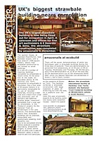 Front page of an environmental building newsletter
