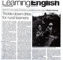 Feature on English teaching in Romania in the Guardian Weekly