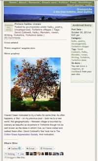 'rowan' haiku published on grumpytyke blog