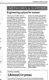 Short article in Nature