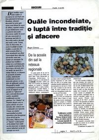 Feature in Romanian about decorated eggs