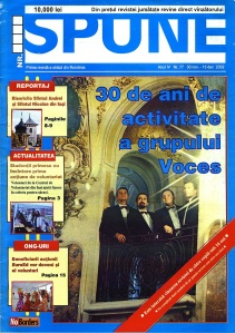 Front cover a the Romanian street paper managed and edited by Roger Livesey