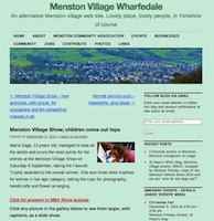 Picture of Menston Viilage website home page; a screen shot